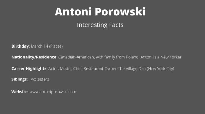 Antoni Porowski: A Review–  His Cookbook; Men's Casual Clothing